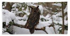Owl Bath Towel by Jewels Blake Hamrick