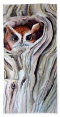 Owl Bath Towel by Laurel Best