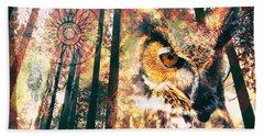 Owl Medicine 2015 Bath Towel