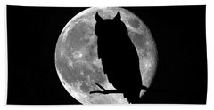 Owl Moon Hand Towel