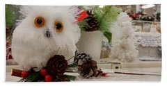 Owl On The Shelf Hand Towel by Betty-Anne McDonald