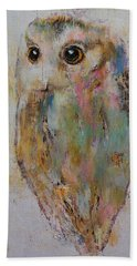 Owl Painting Hand Towel