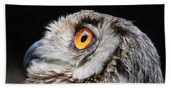 Owl The Grand-duc Bath Towel by Mary-Lee Sanders