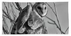 Owl Whites Bath Towel
