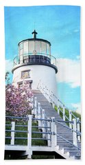 Owl's Head Light In Early June Hand Towel