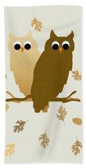 Owls Pattern Art Bath Towel