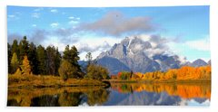 Mt Moran At Oxbow Bend Hand Towel