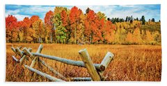 Oxbow Bend Fall Color Hand Towel