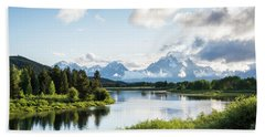 Oxbow Bend In The Grand Teton National Park Bath Towel by Serge Skiba