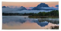 Oxbow Bend Sunrise- Grand Tetons Version 2 Bath Towel