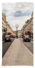 Oxford Street In London Bath Towel