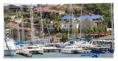 Bath Towel featuring the photograph Oyster Bay Marina by Margaret Bobb