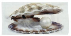 Oyster With Pearl Hand Towel