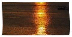 Ozark Lake Sunset Hand Towel by Don Koester