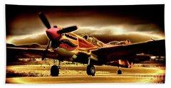 P-40 Warhawk Blazrd Bath Towel