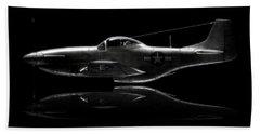 P-51 Mustang Profile Bath Towel by David Collins