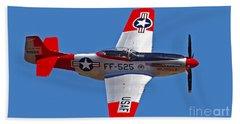 P-51d Mustang Flyby Bath Towel