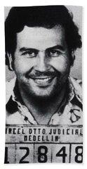 Pablo Escobar Mug Shot 1991 Vertical Hand Towel