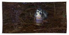 Hand Towel featuring the photograph Pacific Black Duckling by Miroslava Jurcik