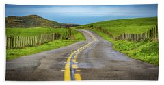 Pacific Coast Road To Tomales Bay Hand Towel