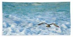 Pacific Golden Plover Flying Bath Towel