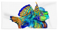 Pacific Mandarinfish Hand Towel