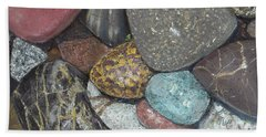 Pacific Nw Beach Rocks Bath Towel