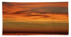 Pacific Ocean Sunset Hand Towel