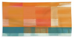 Pacific Sunset 2- Abstract Art By Linda Woods Hand Towel