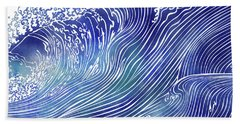 Pacific Waves Hand Towel