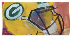 Packer Helmet Hand Towel by Terri Einer