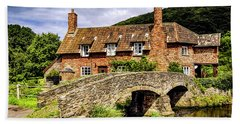 Packhorse Bridge At Allerford, Uk Hand Towel by Chris Smith