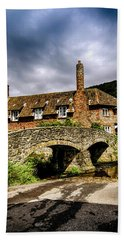 Packhorse Bridge At Alllerford, Uk Hand Towel by Chris Smith