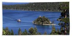 Paddle Boat Emerald Bay Lake Tahoe California Bath Towel