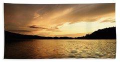 Paddling At Sunset On Kekekabic Lake Bath Towel