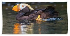 Paddling Puffin Hand Towel