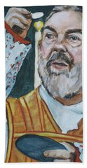 Padre Pio Bath Towel by Bryan Bustard