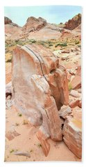 Bath Towel featuring the photograph Pages Of Stone In Valley Of Fire by Ray Mathis