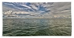 Paint Brush Sky - Ft Myers Beach Bath Towel by Christopher L Thomley