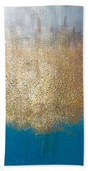 Paint The Sky Gold Hand Towel