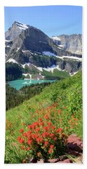 Paintbrush Above Grinnell Lake Bath Towel
