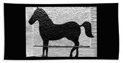 Hand Towel featuring the photograph Painted Black - Stone Pony by Colleen Kammerer