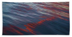 Painted By Nature - Water On The Flight Through The Fiery Skies Bath Towel