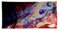 Painted Cave Skull Bath Towel