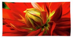 Painted Dahlia In Full Bloom Bath Towel