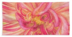 Painted Dahlia Bath Towel by Kim Andelkovic