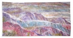 Bath Towel featuring the painting Painted Desert by Ellen Levinson