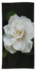 Hand Towel featuring the photograph Painted Gardenia by Phyllis Denton