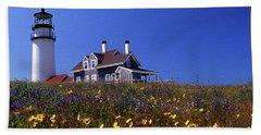 Painted Highland Lighthouse Cape Cod Bath Towel
