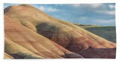 Painted Hill And Clouds Bath Towel by Greg Nyquist